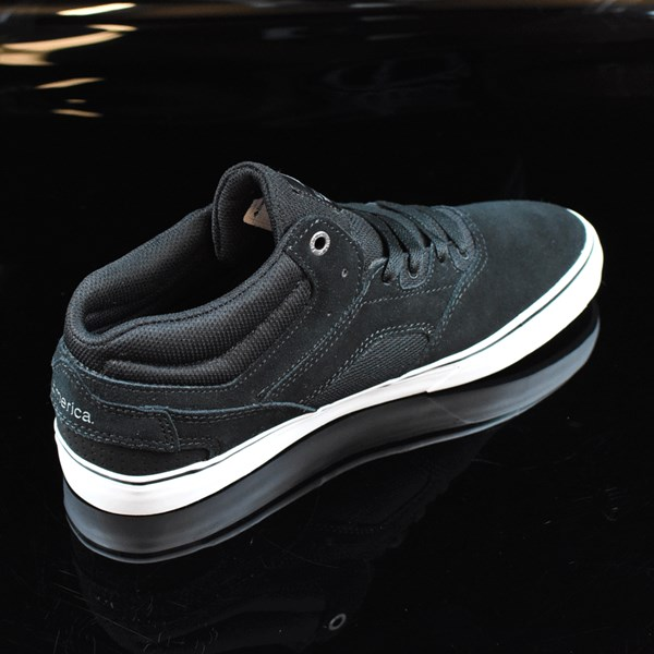 Emerica The Westgate Mid Vulc Shoes Black, White Rotate 1:30