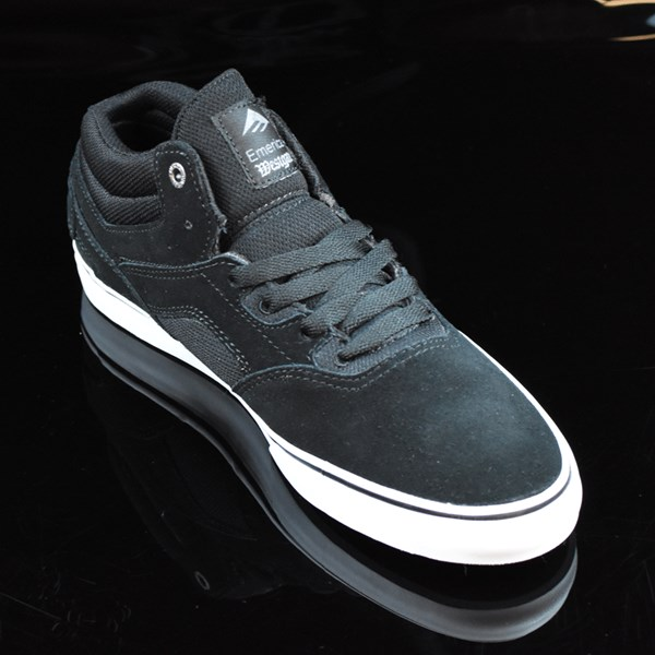 Emerica The Westgate Mid Vulc Shoes Black, White Rotate 4:30
