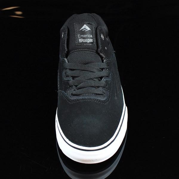 Emerica The Westgate Mid Vulc Shoes Black, White Rotate 6 O'Clock