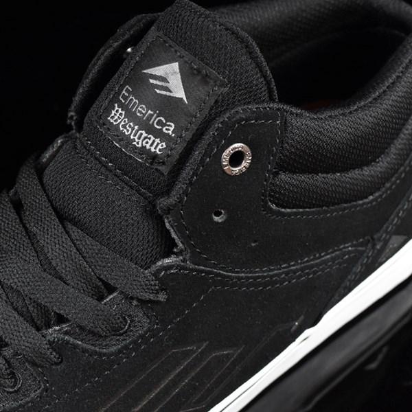 Emerica The Westgate Mid Vulc Shoes Black, White Tongue