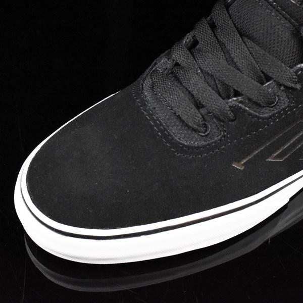 Emerica The Westgate Mid Vulc Shoes Black, White Closeup