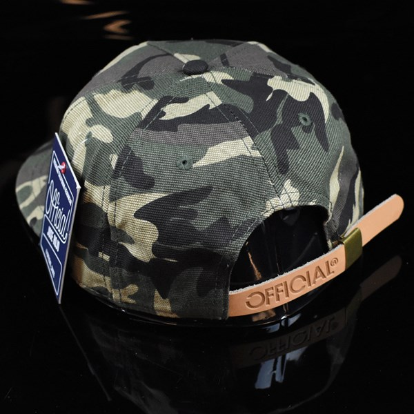 The Official Brand Jose Rojo Woodland Strap Back Hat Camo back