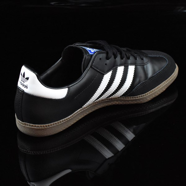 adidas Samba Shoes Black, White, Gum Rotate 1:30