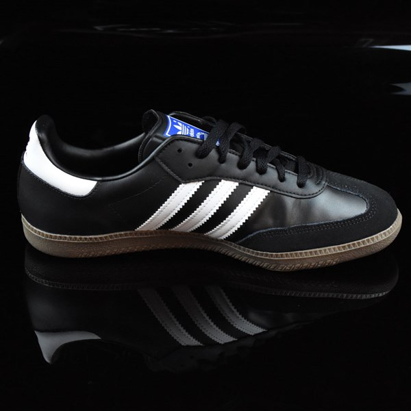adidas Samba Shoes Black, White, Gum Rotate 3 O'Clock