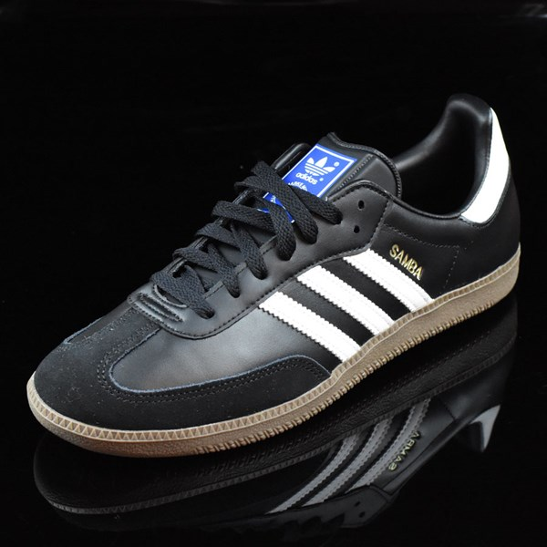 adidas Samba Shoes Black, White, Gum Rotate 7:30