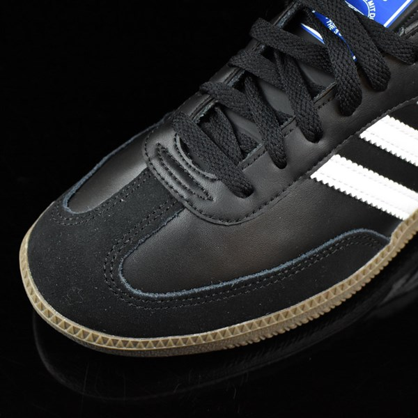 adidas Samba Shoes Black, White, Gum Closeup