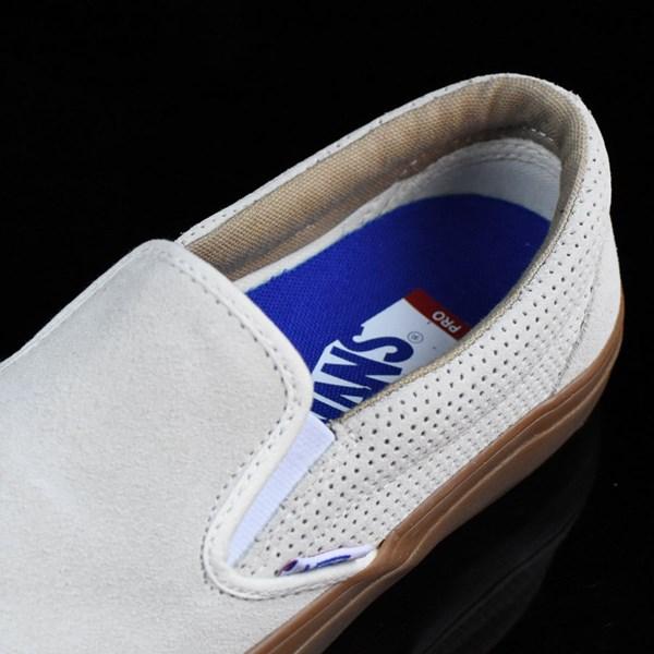 Vans Slip On Pro Shoes Off White, Gum Tongue