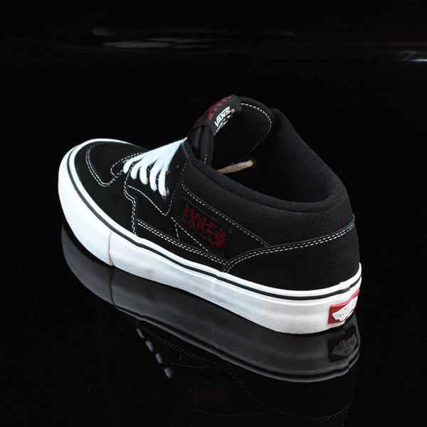6a1c37da49 ... Red Vans Half Cab Pro Shoes Black