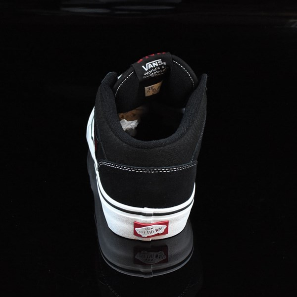 Vans Half Cab Pro Shoes Black, White, Red Rotate 12 O'Clock