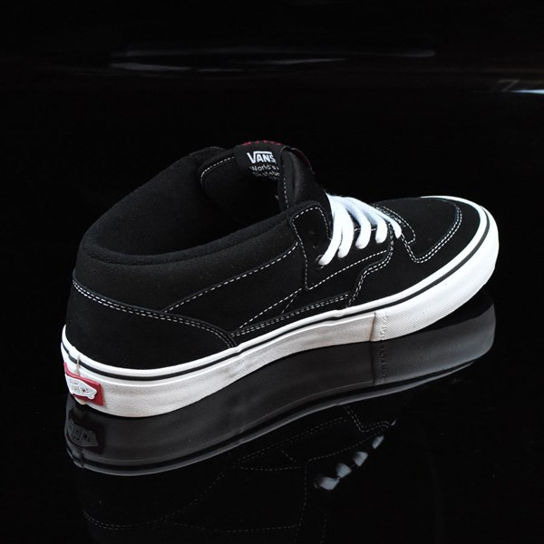Vans Half Cab Pro Shoes Black, White, Red Rotate 1:30