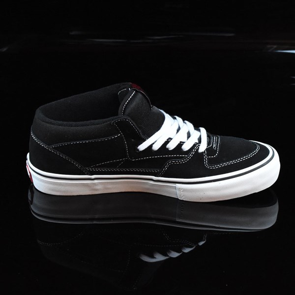 Vans Half Cab Pro Shoes Black, White, Red Rotate 3 O'Clock