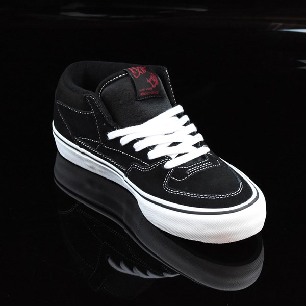 Vans Half Cab Pro Shoes Black, White, Red Rotate 4:30