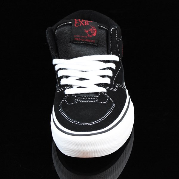 Vans Half Cab Pro Shoes Black, White, Red Rotate 6 O'Clock