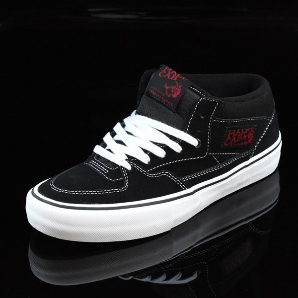 Vans Half Cab Pro Shoes Black, White, Red Rotate 7:30