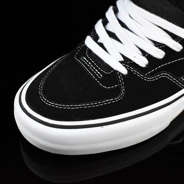 Vans Half Cab Pro Shoes Black, White, Red Closeup