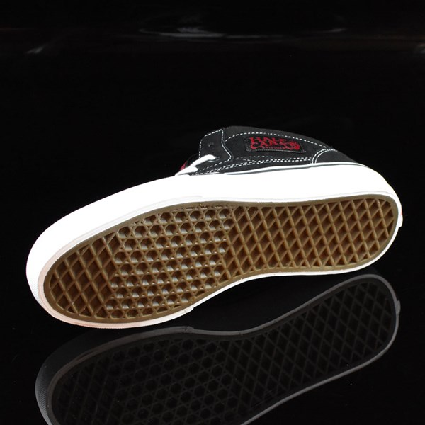 Vans Half Cab Pro Shoes Black, White, Red Sole