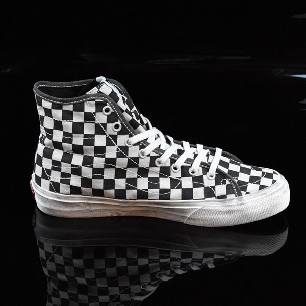 vans overwashed sk8 hi checkerboard