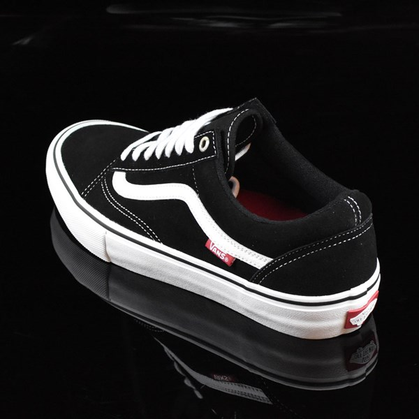 Vans Old Skool Pro Shoes Black, White, Red Rotate 7:30