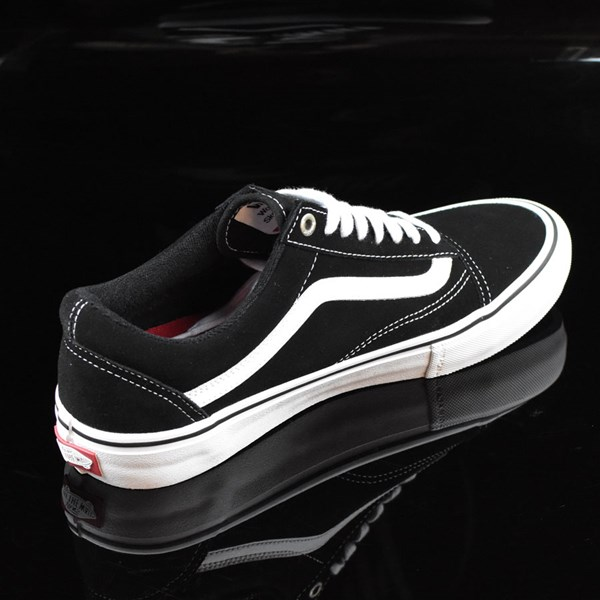 Vans Old Skool Pro Shoes Black, White, Red Rotate 1:30