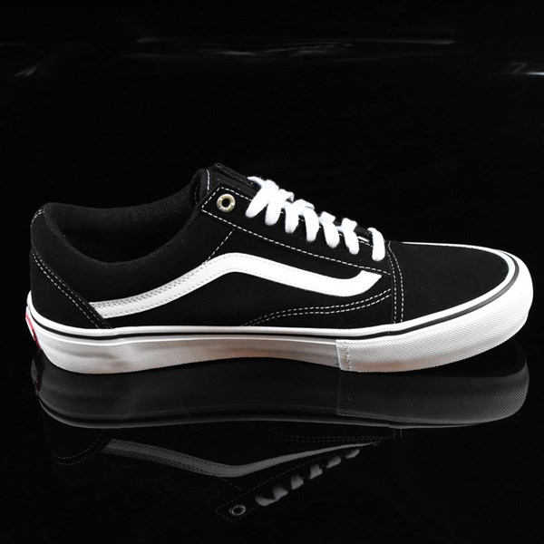 Vans Old Skool Pro Shoes Black, White, Red Rotate 3 O'Clock