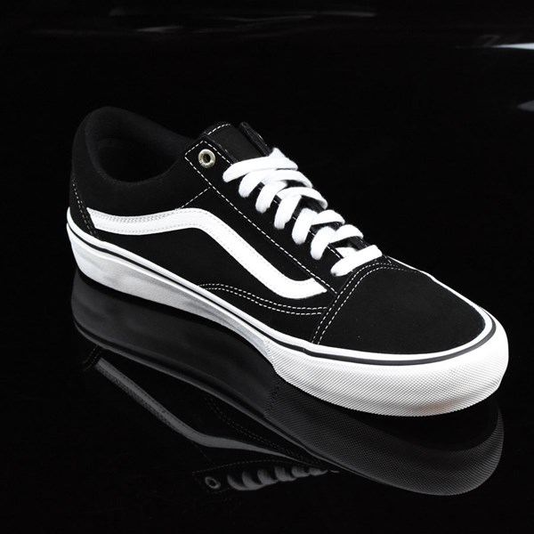 Vans Old Skool Pro Shoes Black, White, Red Rotate 4:30