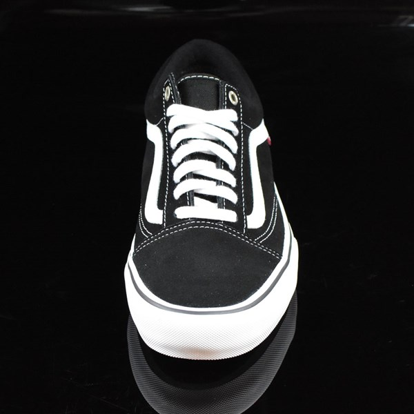 Vans Old Skool Pro Shoes Black, White, Red Rotate 6 O'Clock