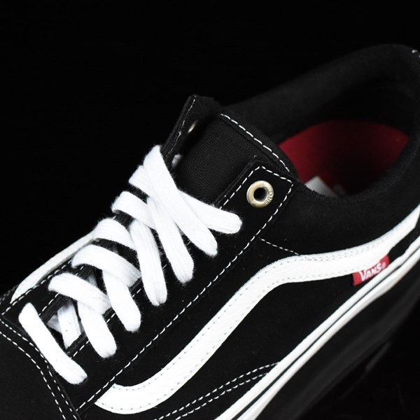 Vans Old Skool Pro Shoes Black, White, Red Tongue