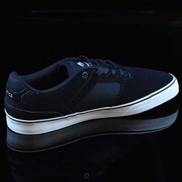 Emerica The Reynolds Low Vulc Shoes Navy, White, Gum Rotate 1:30