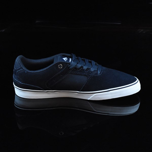 Emerica The Reynolds Low Vulc Shoes Navy, White, Gum Rotate 3 O'Clock
