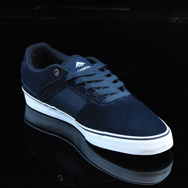 Emerica The Reynolds Low Vulc Shoes Navy, White, Gum Rotate 4:30