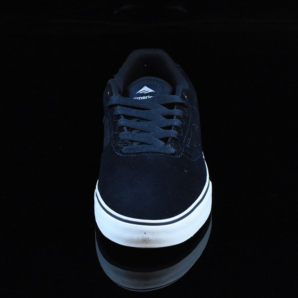 Emerica The Reynolds Low Vulc Shoes Navy, White, Gum Rotate 6 O'Clock