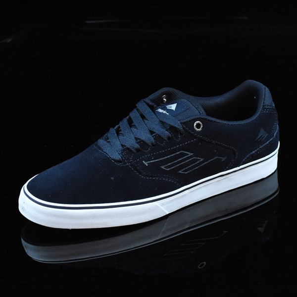 Emerica The Reynolds Low Vulc Shoes Navy, White, Gum Rotate 7:30