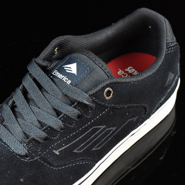 Emerica The Reynolds Low Vulc Shoes Navy, White, Gum Tongue