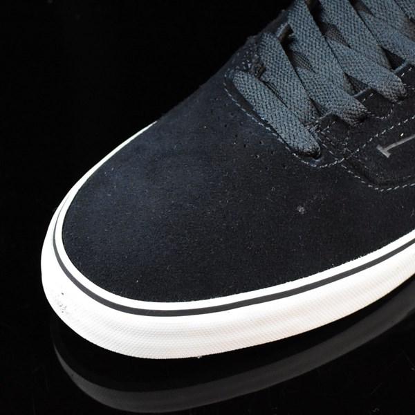 Emerica The Reynolds Low Vulc Shoes Navy, White, Gum Closeup