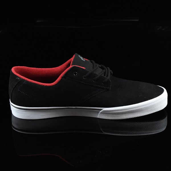 etnies Jameson Vulc Shoes Black, White Rotate 3 O'Clock