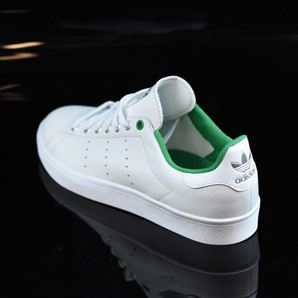 adidas Stan Smith Vulc Shoes Vintage White, Green Rotate 7:30