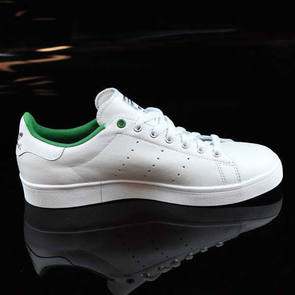 adidas Stan Smith Vulc Shoes Vintage White, Green Rotate 3 O'Clock