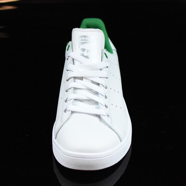 adidas Stan Smith Vulc Shoes Vintage White, Green Rotate 6 O'Clock