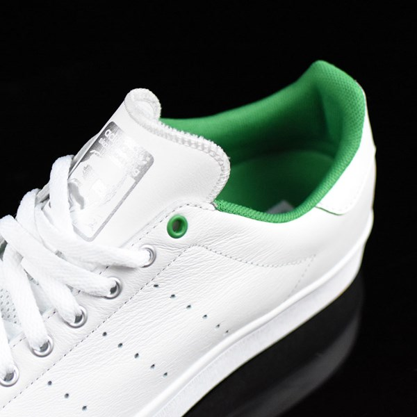 adidas Stan Smith Vulc Shoes Vintage White, Green Tongue