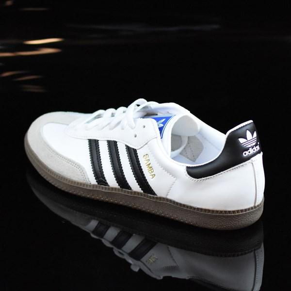 adidas Samba Shoes White, Black, Gum Rotate 7:30