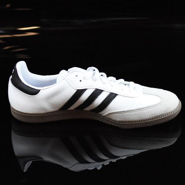 adidas Samba Shoes White, Black, Gum Rotate 3 O'Clock