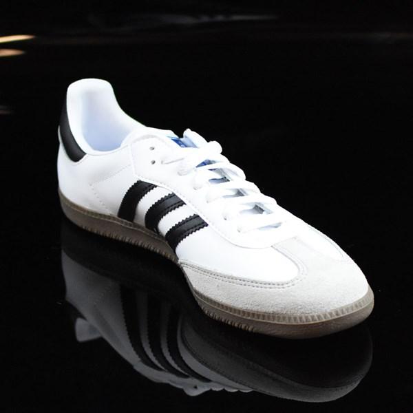 adidas Samba Shoes White, Black, Gum Rotate 4:30