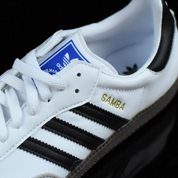 adidas Samba Shoes White, Black, Gum Tongue