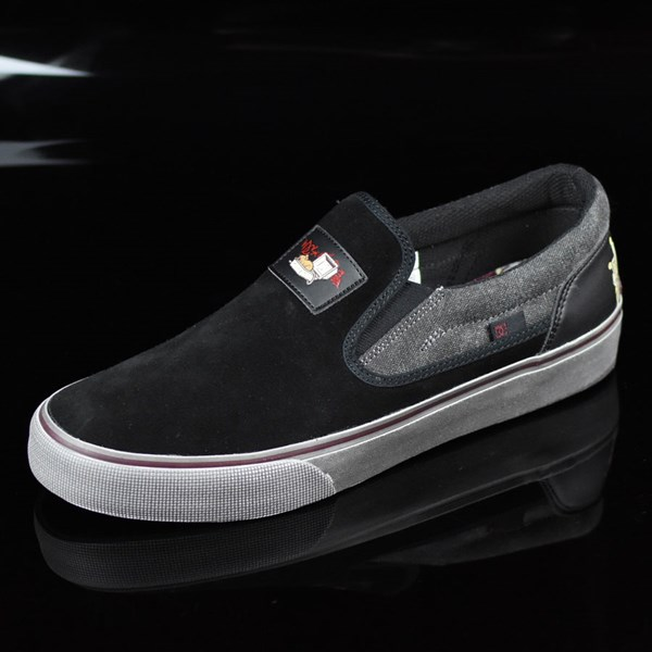 DC Shoes Trace Slip-On Cliver Shoes Black Rotate 7:30