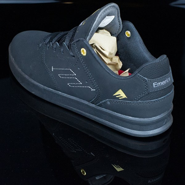 Emerica The Reynolds Low Shoes Black, Black Rotate 7:30