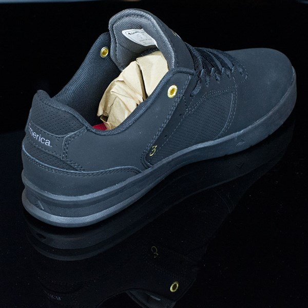 Emerica The Reynolds Low Shoes Black, Black Rotate 1:30