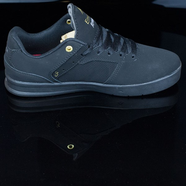 Emerica The Reynolds Low Shoes Black, Black Rotate 3 O'Clock