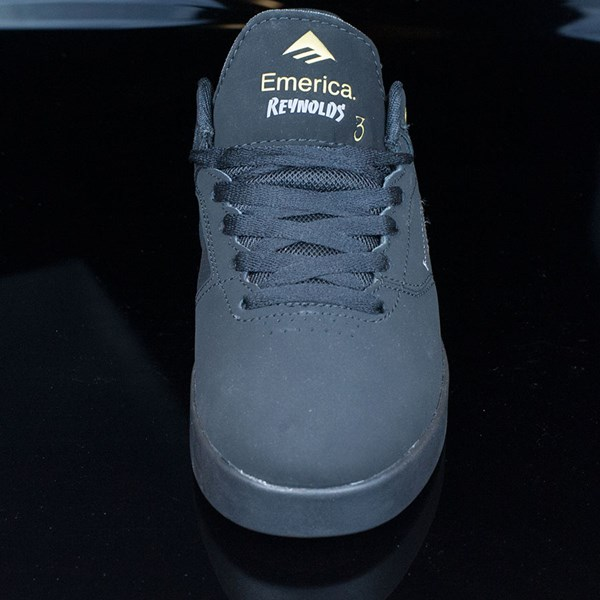 Emerica The Reynolds Low Shoes Black, Black Rotate 6 O'Clock