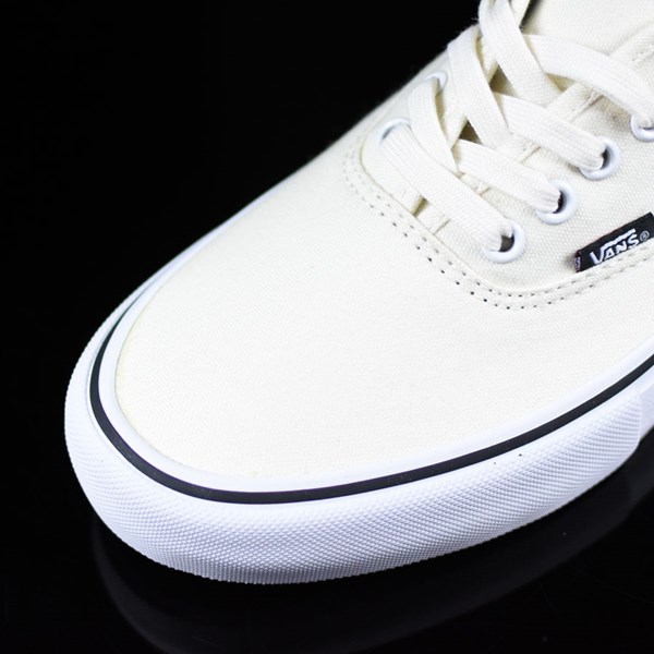 Vans Authentic Pro Shoes White, White Closeup