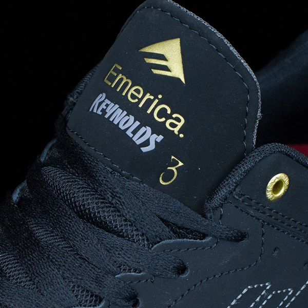 Emerica The Reynolds Low Shoes Black, Black Tongue